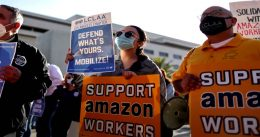 Amazon Union Election Tally Expected to Start, Expected Turnout 55%