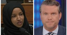 'Kinda your thing, isn't it?' Gloves come off when Ilhan Omar predictably calls Pete Hegseth a 'racist'