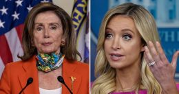 Kayleigh McEnany Slams Pelosi Hypocrisy: On Video Hugging, Chatting While Maskless In Crowded WH Room [VIDEO]