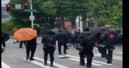 Antifa Members Assault Police and A Small Child During Violent Seattle May Day Protests