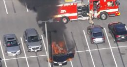 CAUTION: Car Bursts Into Flames When Smoking Driver Uses Hand Sanitizer