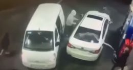 Thieves' Sprayed With Gas As They 'Try to Rob' A Man Filling Up His Car At a Gas Station (VIDEO)