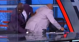 Dr Shaq Rescues Cramped-up Charles Barkley With Massage On  Set 'Inside the NBA'