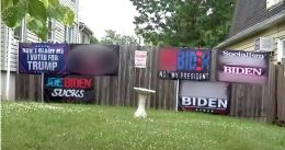 'I'm not giving up': Pro-Trump homeowner faces $500 per day fine over expletive-filled anti-Biden signs