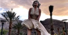 Liberal protesters are outraged over 'misogynist' statue of Marilyn Monroe in Palm Springs