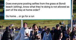 "Australian Media Goes Berserk Over People Taking Selfies at Bondi Beach Amid New Lockdown Due to ""Delta"" Variant"