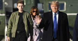 Barron Trump Towers Over His Mother Melania In Shots From Outing In New York