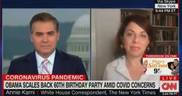 """NY Times Hack Defends Obama's Mega Birthday Bash: """"This Is a Sophisticated, Vaccinated Crowd"""" [VIDEO]"""