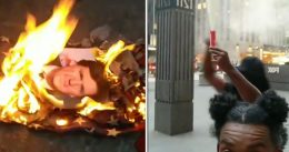 """Tucker Carlson Responds To BLM Protesters Burning His Photo With American Flag: """"I'm proud..."""""""