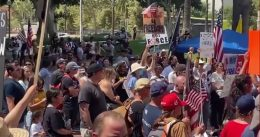 Los Angeles: 'Antifa' thugs clash with anti-mask protesters [VIDEO]