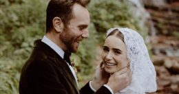 Lily Collins marries Charlie McDowell in 'fairytale' wedding ceremony
